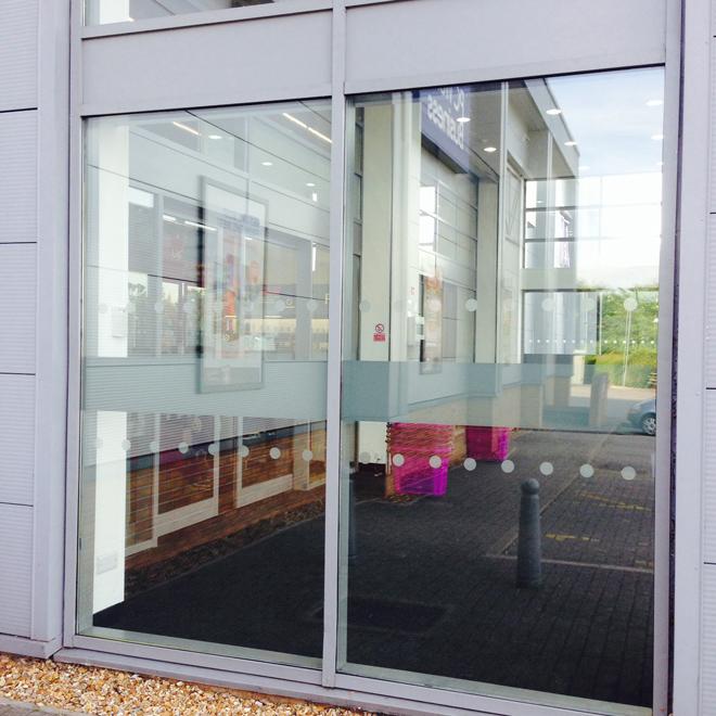 9c5f7f7b572 PC World Automatic Doors. Legal Glass Manifestations. Nottingham